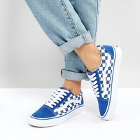 Vans Old Skool Primary Check Trainers In Blue at asos.com