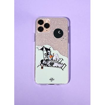 Moon Kissed Glitter Phone Case