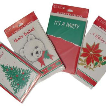 288 Christmas Holiday Party Invitation Cards - Come In Four Heart-warming Styles