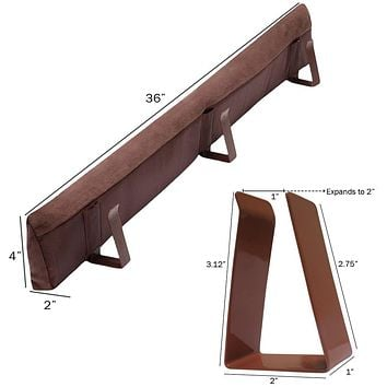 Evelots Door Draft Stopper-Metal Clips-No Repositioning-Stop Cold/Insect-3 Feet