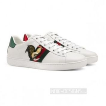 Indie Designs New Ace Embroidered Rooster Sneakers