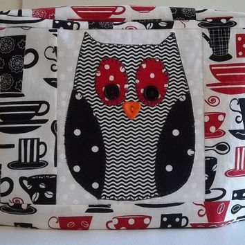2 Slice Toaster Cover with Owl