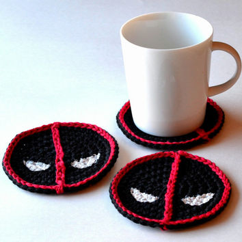 Deadpool Coasters, Set of 4 or 6