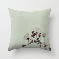 Cherry Blossom Throw Pillow by Christian Solf