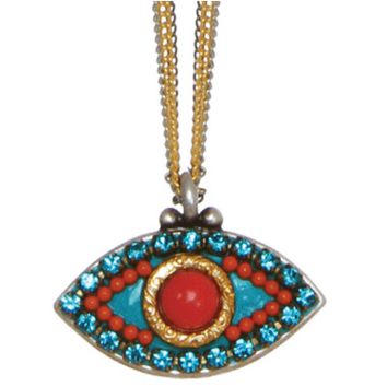 Coral Sea Evil Eye Necklace, Jewelry