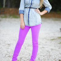 Revolve Around Me Pants: Neon Orchid | Hope's