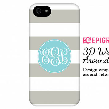 Monogram iPhone 6 case, custom iPhone 5c case, iPhone 5s case, personalized iPhone case, iPhone 4s case, Galaxy s5 case, aqua monogram