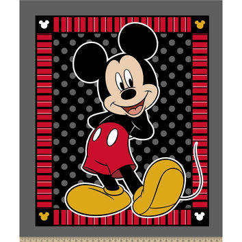 CARTOON MICKEY MOUSE BLANKET (NO SEW/FRAYED EDGES)