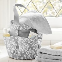 Student Shower Set, Ikat Medallion, Gray