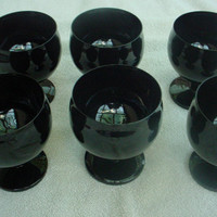 Black Amethyst Goblets by Montival on Etsy