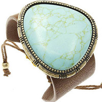 Inland Turquoise Leather Bracelet