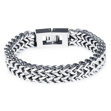 New Arrival Awesome Shiny Hot Sale Gift Stylish Great Deal Titanium Men Strong Character Chain Jewelry Accessory Bracelet [10783259715]