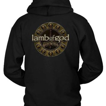 LMF1GW Lamb Of God Hourglass Skull Art Hoodie Two Sided