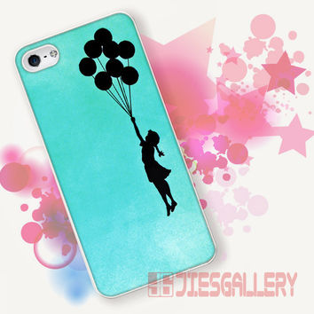 Banksy Graffiti Balloon Mint for iPhone 4/4S, iPhone 5/5S, iPhone 5C, iPhone 6 Case - Samsung S3, Samsung S4, Samsung S5 Case