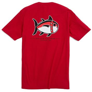 University of Georgia Mascot Tee Shirt in Varsity Red by Southern Tide