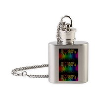 i love 80s Flask Necklace