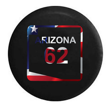 Arizona State Route Highway 62 Scenic Road Sign RV Camper Jeep Spare Tire Cover