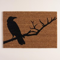 Crow Halloween Doormat