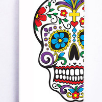 Skull Flowers 2 for Iphone 5C Hard Cover Plastic