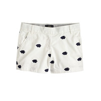 J.Crew Womens Chino Short In Embroidered Fish