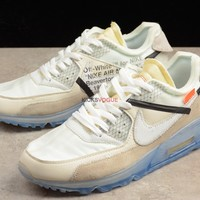OFF WHITE x Nike Air Max 90 Ice 10X AA7293 100 220 Men Sneaker