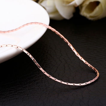 """18"""" Rose Gold Hard Thick Chain"""