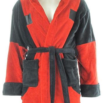DEADPOOL SYMBOL FLEECE HOODED ROBE