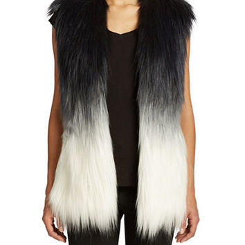 Guess Ombre Faux Fur Vest