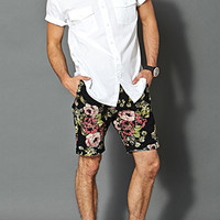 Pixelated Floral Shorts
