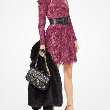 MICHAEL MICHAEL KORS Scalloped Corded Floral Lace Dress Style# MH78XME82D