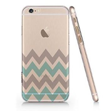 Aztec Min Chevron Pattern Iphone 6 Case, Clear Iphone 6 Hard Cover Case (For Apple Iphone 6 4.7 Screen)-Emerishop (MAY356)