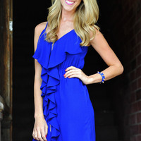 Love Is Enough Dress: Royal Blue | Hope's