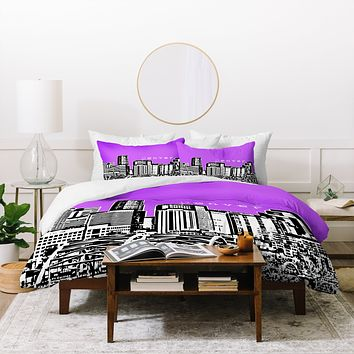 Bird Ave Denver Purple Duvet Cover