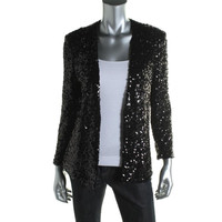French Connection Womens Sequined Long Sleeves Blazer