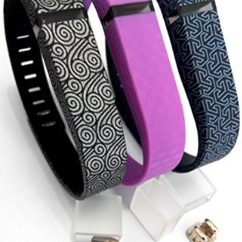 DDup Adjustable Replacement Wristband with a Secure Clasp for Fitbit Flex