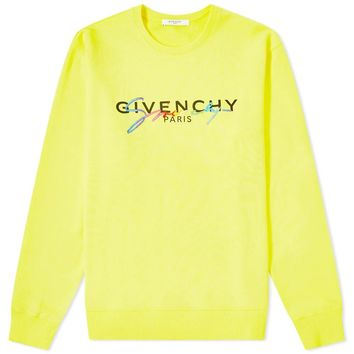 Rainbow Signature Yellow Sweatshirt by Givenchy