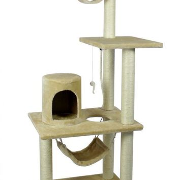 "All color New BestPet 62"" Cat Tree Condo Furniture Scratch Post Pet House 5002"