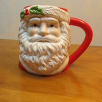 MADE IN INDONESIA BY RUSS BERNIE COM. # 12974 VINTAGE SANTA MUG