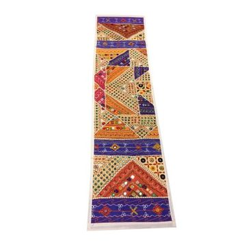 Mogul Banjara Table Runner Patchwork Embroidered Table Decor Wall Tapestry - Walmart.com