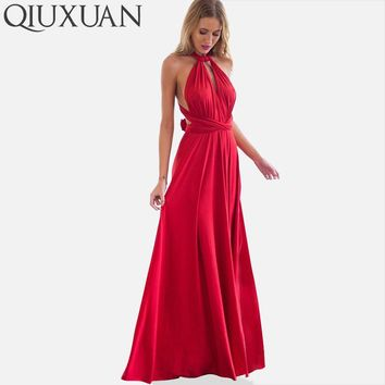 QIUXUAN Infinity Convertible Wrap Dress Women Maxi Dresses 2018 Fashion Bandage Long Dress Party Multiway Bridesmaids 20 Colors