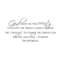 wall quotes wall decals - Serenity Prayer