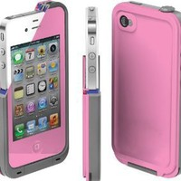 COCO FUN Waterproof Protection Case Cover For Apple iPhone 4/4S - (Multi Color) - Pink:Amazon:Cell Phones & Accessories