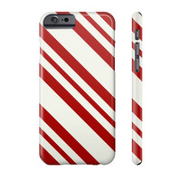 Red Candy Cane Stripes Pattern Phone Case