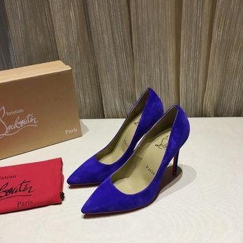 CL Christian Louboutin Women Trending Blue High Heel Shoes Best Quality