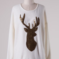 Golden Forest Sweater - Ivory