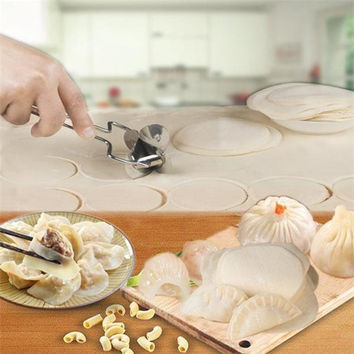 Stainless Steel 8cm Dumpling Skin Mold Pie Ravioli Mould Maker