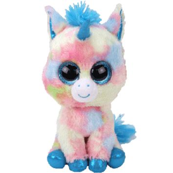 TY Beanie Boos Blitz Blue Unicorn - Medium, 13""