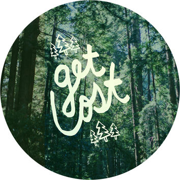Get Lost Forest Circle Wall Decal
