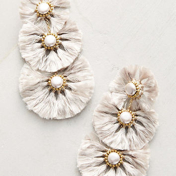 Fringed Pearl Drop Earrings