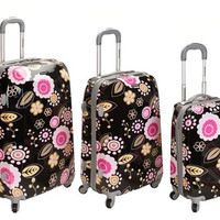 F150-PUCCI 3Pc Vision Polycarbonate/Abs Luggage Set